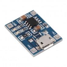 Модуль зарядки для LiIo/LiPo с защитой TP4056 (microUSB)